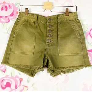 NEW Free People High Rise Distressed Shorts 26